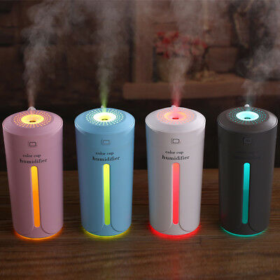 IK- Desk Travel Quiet Night Light Cool Mist USB 230ML Mini Air Humidifier Natura