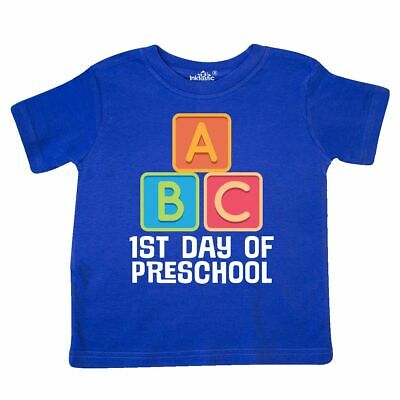 Inktastic 1st Day Of Preschool Gift Toddler T-Shirt Pre-k First Student Back To