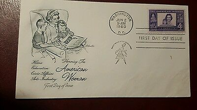 FDC - united states - honouring the american woman 1960 - Fine Used Condition
