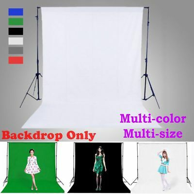 Multi-Size Green Screen Photography Cotton Backdrop Photo Background Chromakey