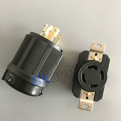 UL Approved L14-30P NEMA L14-30R 30A 125V-250V Locking Male Receptacle Female
