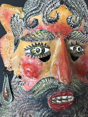 Old Mexican Copper Mask Circa Mid 1900's Altamirano, Guerrero… …beautiful...