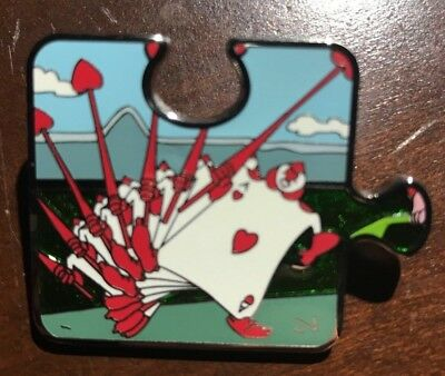 Alice In Wonderland Disney Character Connection Pin LE 1100 Puzzle Ace Of Hearts