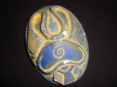 Rare Antique Egyptian Scarab Beetle Snake New Kingdom HIEROGLYPHS 600-200 B.C