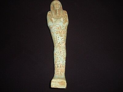 Rare Antique Ancient Egyptian Statue USHABTI Shabti 300-350 BC