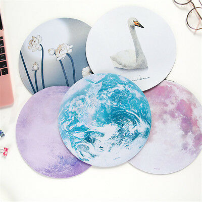 Mon Slip Round Galaxy Mouse Pad Mice Mat For Laptop Notebook Computer PC Gaming