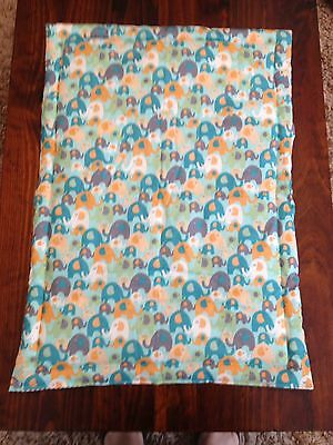 Brand New  Hand Made Lots Of Elephants Bassinet Or Pram Quilt Baby Cot