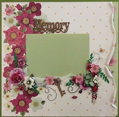 handmade scrapbook page 12 X 12 Memory Themed Layout