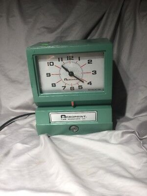 Acroprint 150NR4 Heavy Duty Automatic Time Recorder Mechanical Time Clock No Key