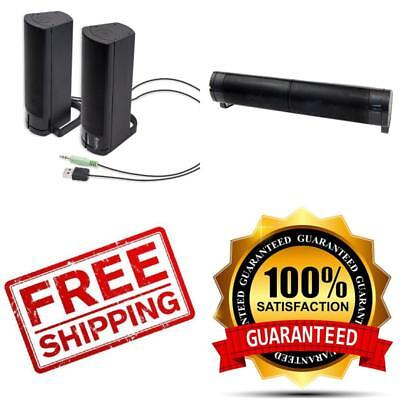 USB Computer Speakers PC Desktop Laptop Stereo Sound Bar for Toshiba Dell HP MP3