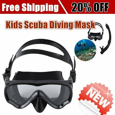 ALOMA Kids Scuba Diving Mask Silicone Snorkel Mask Durable Diving Masks Set HA