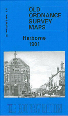 Old Ordnance Survey Map Harborne 1901 Birmingham Edgbaston Beech Lane York St