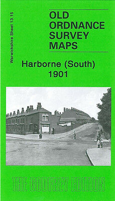 Old Ordnance Survey Map Harborne South 1901 Birmingham Northfield Selly Oak Park