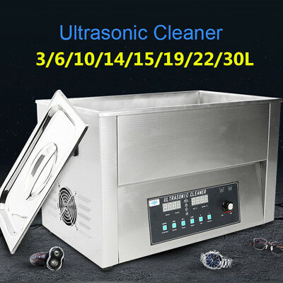 Industrial Heated Ultrasonic Cleaner Tank Jewelry Dental Labs Parts Cleaning