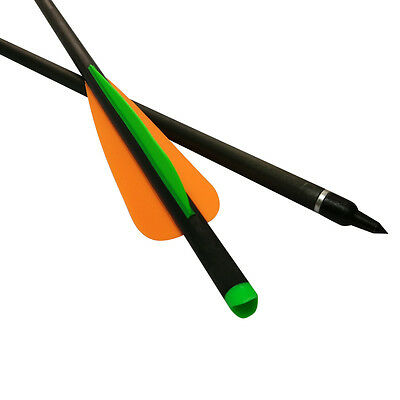 """16""""-22"""" Crossbow Bolts Carbon Hunting Arrows Hybrid Carbon Shaft 125 Grain Point"""