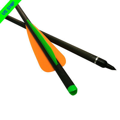 """16/18/20/22"""" Crossbow Bolts Carbon Arrows Targets Hunting Points Moon Nocks"""