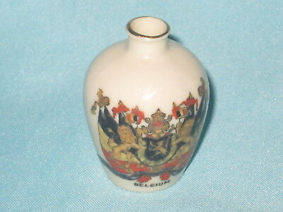Arcadian China WW1 Vase - 'A.D. WAR EDITION' - BELGIUM crest