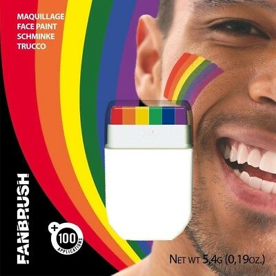 Rainbow Fanbrush Gay Pride Face Body Paint Festival Lgbt Colours