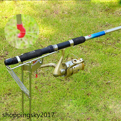 Updated Automatic Adjustable Tackle Bracket Double Spring Fishing Rod Holder Y9Y
