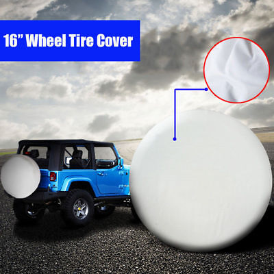 "16inch White SUV 4WD 4X4 Car Spare Wheel Tire Cover for Tyre Φ 76~79cm (30""-31"")"