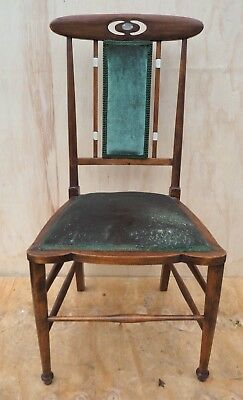 Victorian Art Nouveau Hall/bedroom Chair C1900