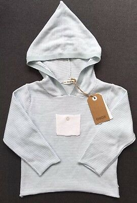 Ouch Baby Cotton Hooded Stripe Top Size 2 NWT