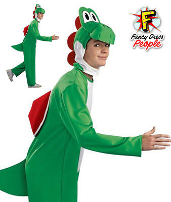 Adult Super Mario Yoshi Costume Dinosaur Fancy Dress Nintendo Video Gamer Outfit