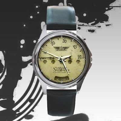 Watch Design Rare! model t ford club Of America Speedometer leather watch