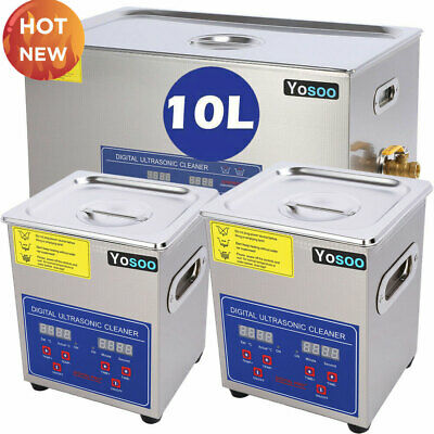 2-30L Stainless Steel Digital Industrial Heated Ultrasonic Cleaner Tank w/ Timer
