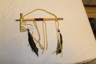 AUTHENTIC NATIVE AMERICAN TOMAHAWK PEACE PIPE By NAVAJO ARTIST D YAZZIE