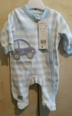 early baby sleepsuit by florence and fred at tesco velour 4.5kg/ 10lb