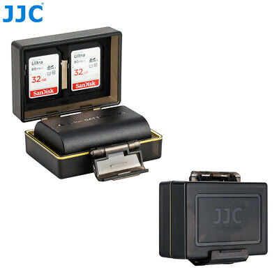 JJC Camera Battery Protection Case w/ Memory Card Storage for Canon LP-E6 LP-E6N