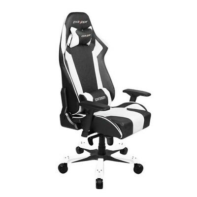 NEW OH/KB06/NW DXRACER KB06 SERIES GAMING CHAIR, NECK/LUMBAR SUPPORT - BLAC.j.