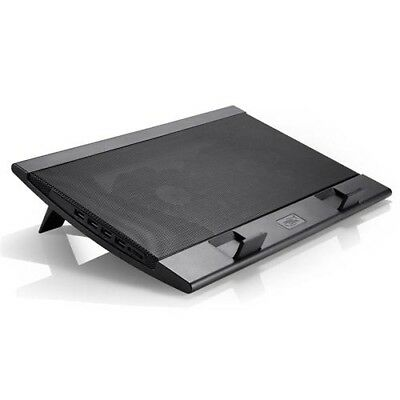 """NEW DEEPCOOL WIND PAL NOTEBOOK COOLER BLACK (TO 15.6""""), 2 VIEWING ANGLES, 2.j."""