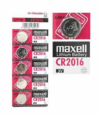 5X CR2016 Branded Hitachi MAXELL 3V LITHIUM Coin Cell Button Batteries TRUSTED