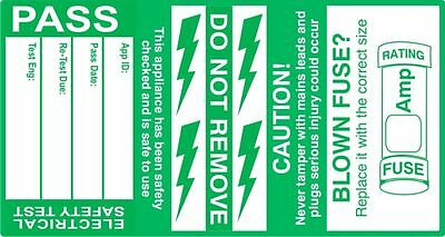Cable Wrap 'PASS' PAT Testing Labels - Roll of 500