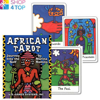 African Tarot Deck Mini Cards Divination Telling Us Games Systems Usa New