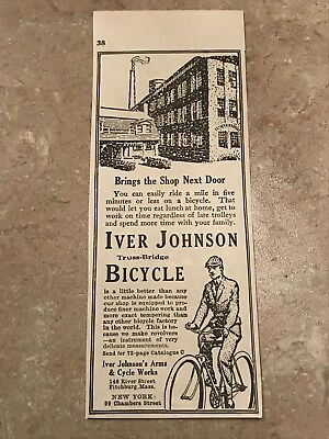 Iver Johnson Bicycle Advertisement (1916) RARE