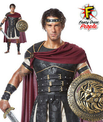 Adult Roman Gladiator Costume Mens Spartan Greek Warrior Centurian Fancy Dress