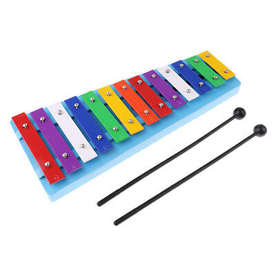 13 Bar Kid's Glockenspiel Xylophone Educational Percussion Instrument Toys