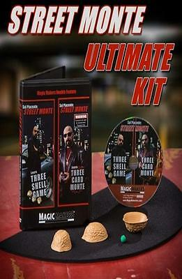 Street Monte Ultimate Kit With 3 Shell Game + Dvd + Pad Mat - Magic Card Tricks