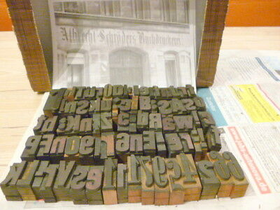 81 Holzbuchstaben Stempel Vintage wood letters antique 100 years