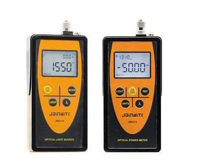New Fiber Optic Tester Optical Power Meter Optical Light Source FC Adapter