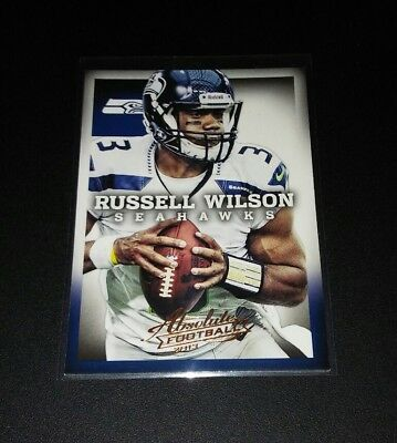Russell Wilson Seahawks #86 Panini Absolute  2013 NFL Football Trading Card