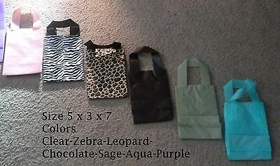 Plastic Bags Clear Frosted Merchandise Bags Colors Small  Size