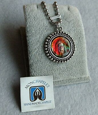Medal scapular of the Holy Face Jesus with a bookmark prayers