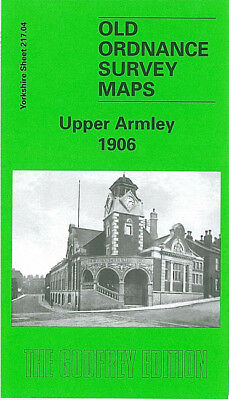 Old Ordnance Survey Map Upper Armley 1906 Leeds Bramley Stanningley Road Town St