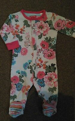 Free P&p Joules Babygrow 3-6 Months Floral