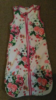 Ted Baker 0-6 Months Growbag / Sleeping Bag Floral Great Condition