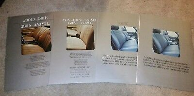 (4) Mercedes Benz Upholstery Sales Brochures 2 from 1976 & 2 from 1977